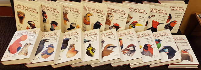 'Handbook of the Birds of the World' 16+1 Volume auction